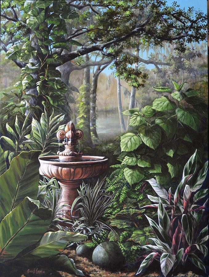 Florida Tropical Garden Painting