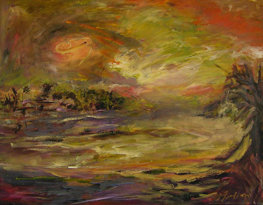Landscapes Painting - Tropics by Julianne Felton