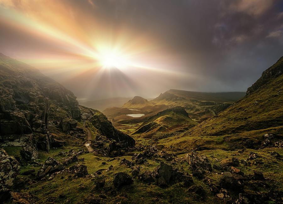 Scotland Photograph - Trotternish Ridge Light #3 by Matt Anderson