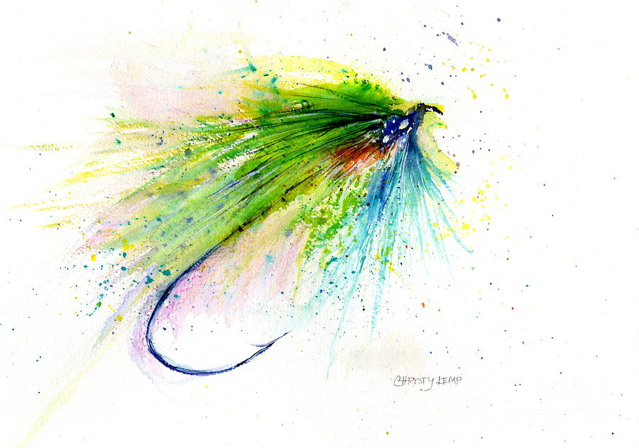Trout Fly Painting - Trout Fly by Christy Lemp