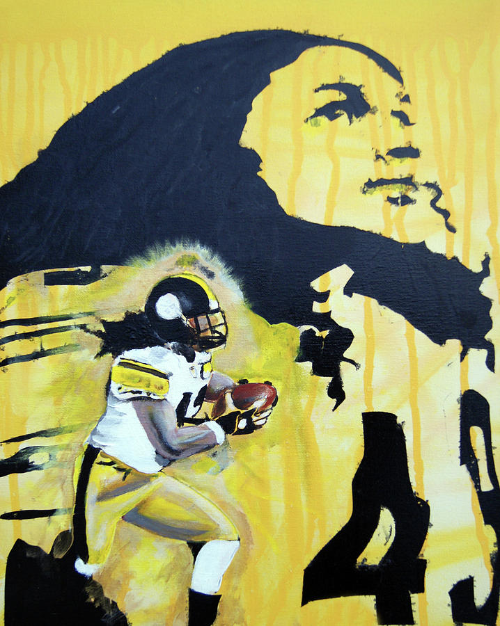 Troy Painting - Troy Polamalu by Ottoniel Lima