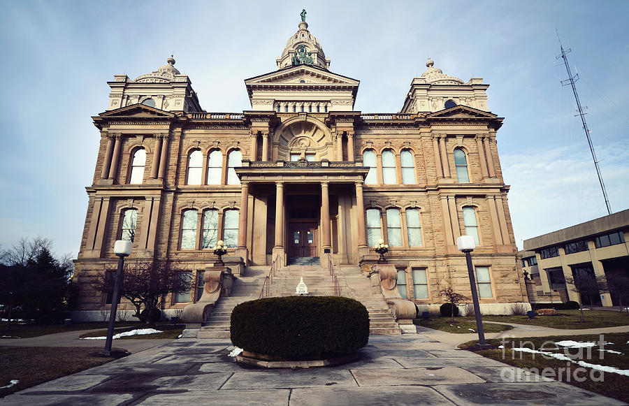 Troy Ohio Photograph - Troys Courthouse  by Rachel Barrett