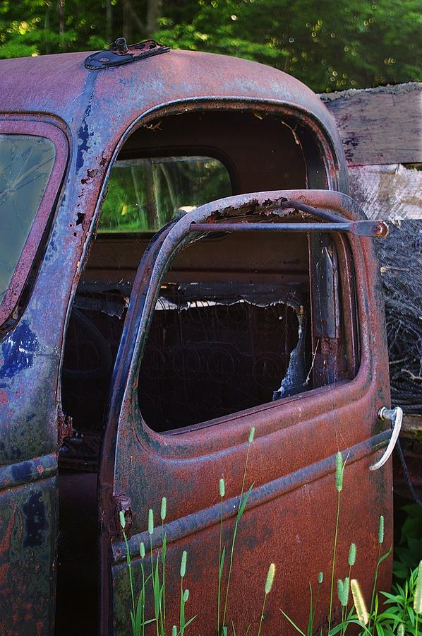 Old Chevy Truck Photograph - Truck And  Door by Randy Pollard