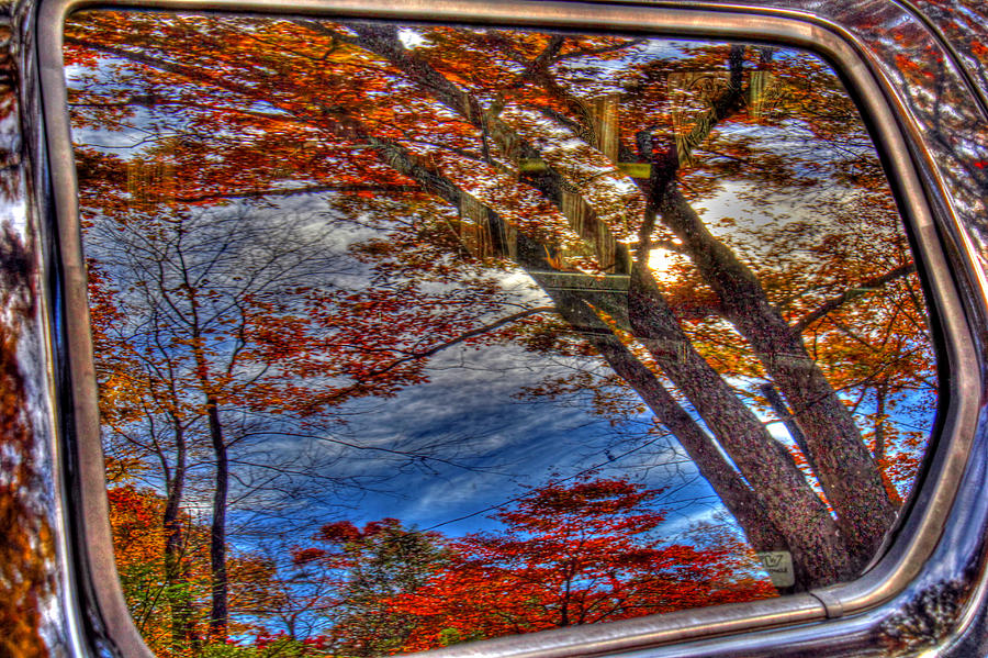 Reflection Photograph - Truck Window Reflection 02 by Andy Lawless