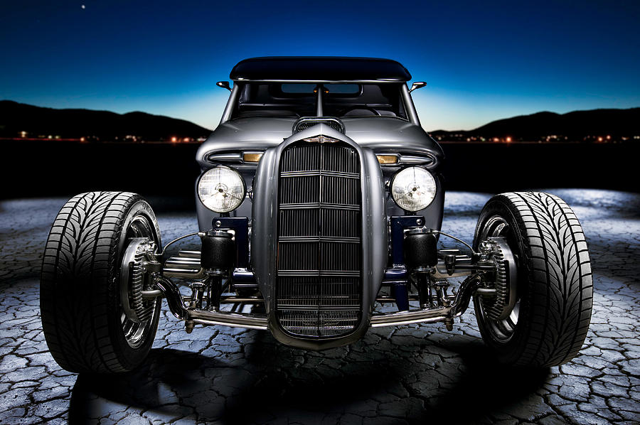 Car Photograph - Millers Chop Shop 1964 Truckster Frontend by Yo Pedro