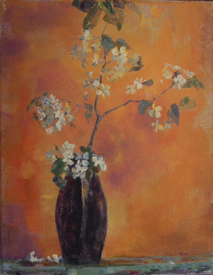 Still Life Painting - Trudis Vase by Terri Messinger
