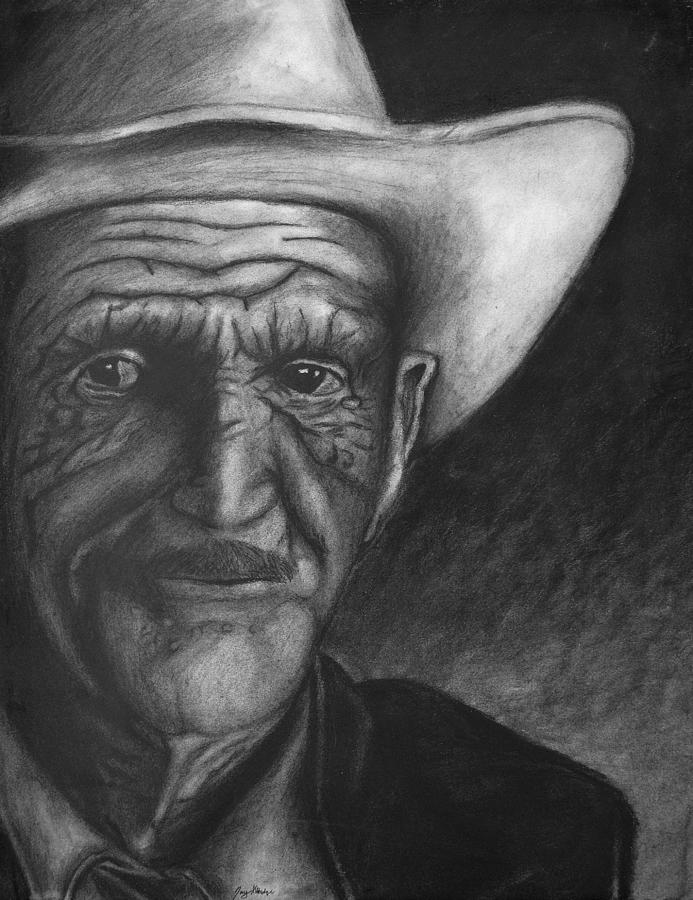 Drawing Drawing - True Cowboy by Jay Alldredge