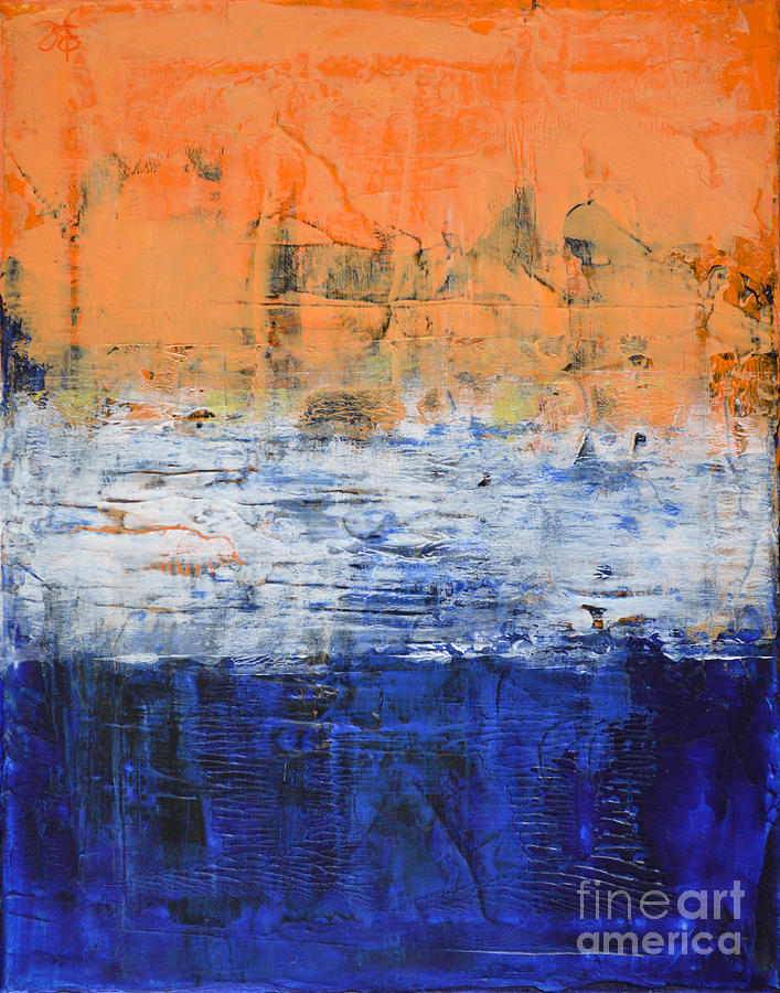 true purpose orange blue white abstract by chakramoon painting by belinda capol. Black Bedroom Furniture Sets. Home Design Ideas