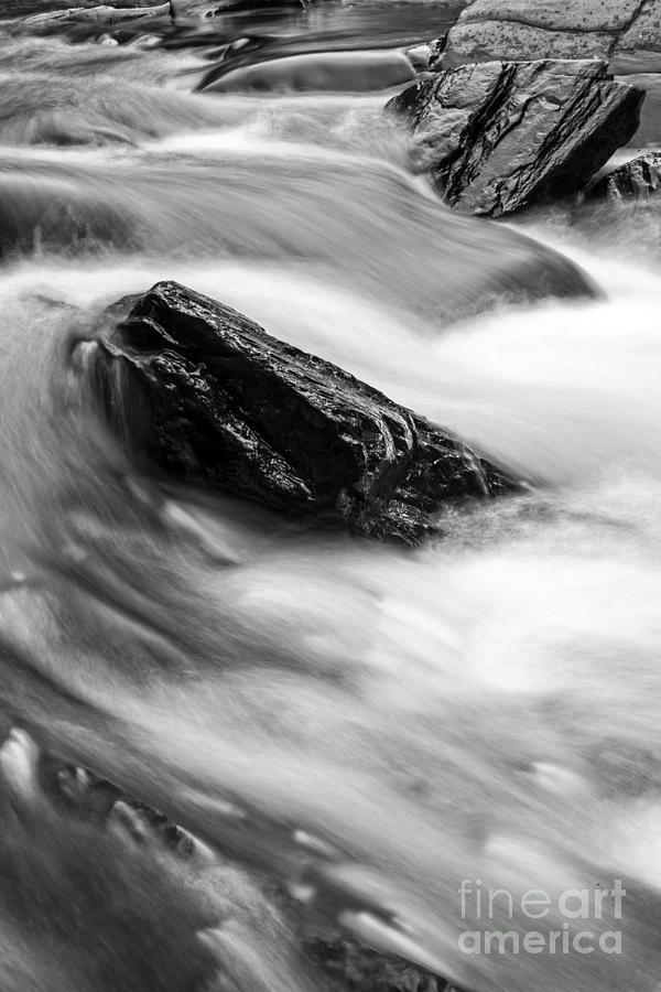 Trues Photograph - Trues Brook Gorge Water Fall by Edward Fielding