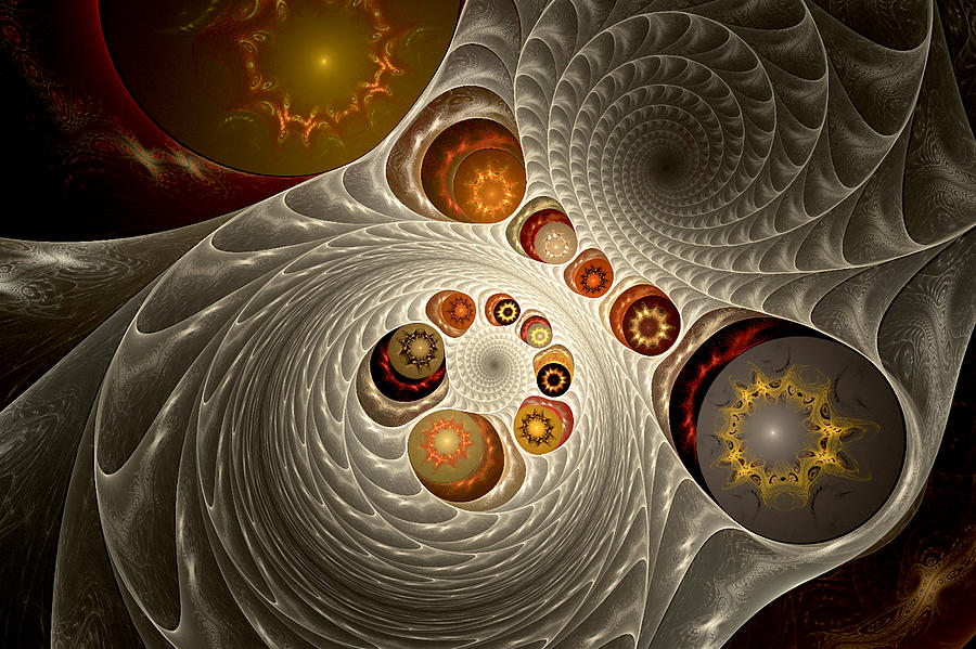 Fractal Digital Art - Truffles by Phil Clark