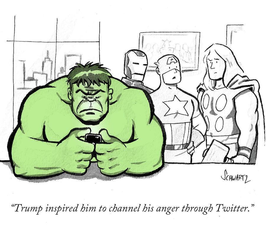 Trump Inspired Drawing by Benjamin Schwartz
