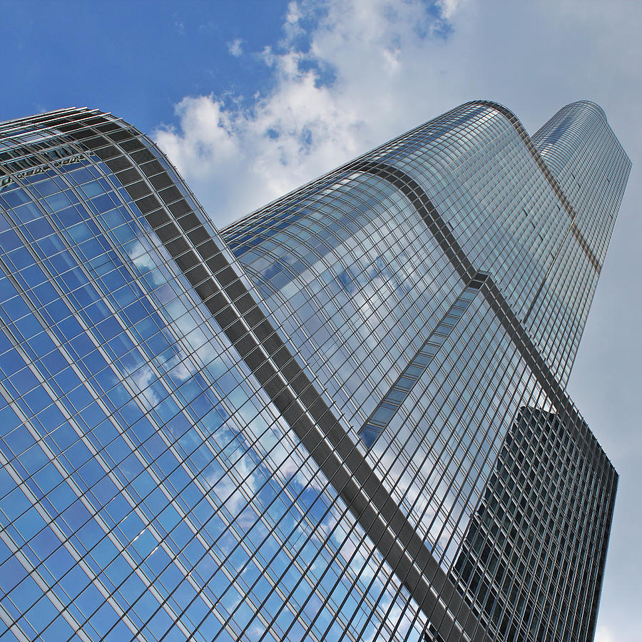 Chicago Photograph - Trump Tower Chicago by Ed Pettitt