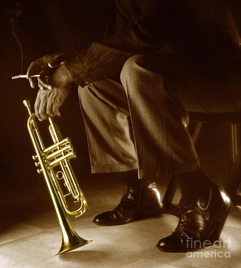 Trumpet Photograph - Trumpet 2 by Tony Cordoza