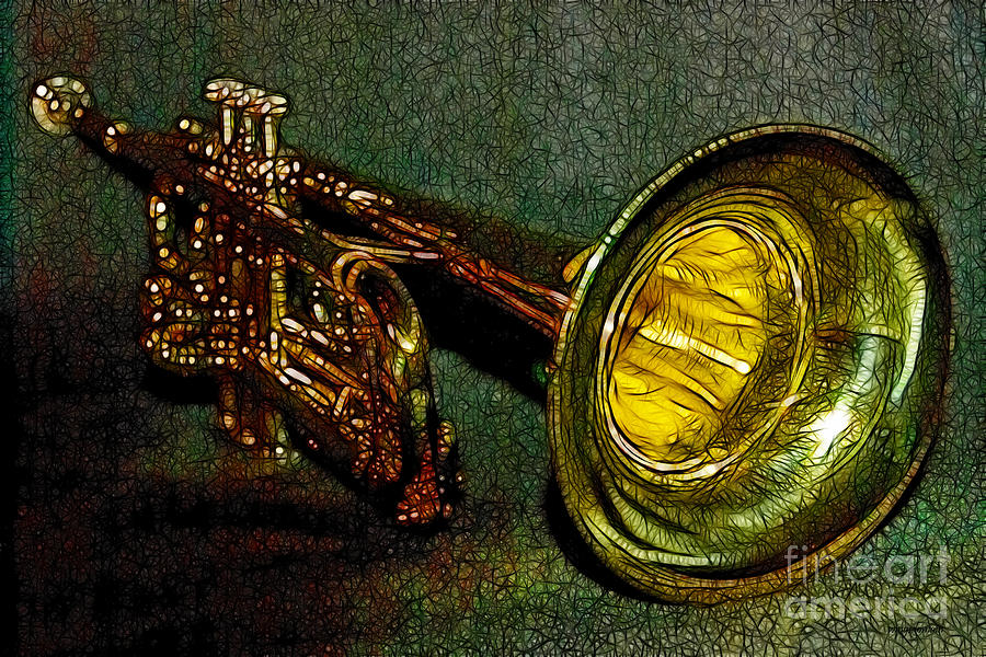 Music Photograph - Trumpet - 20130111 by Wingsdomain Art and Photography