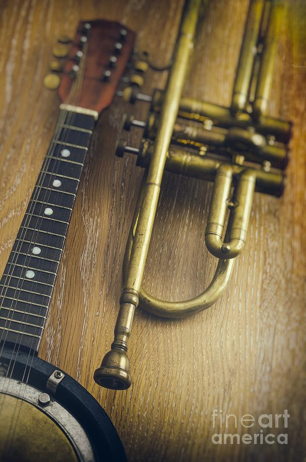 Blues Photograph - Trumpet And Banjo by Carlos Caetano