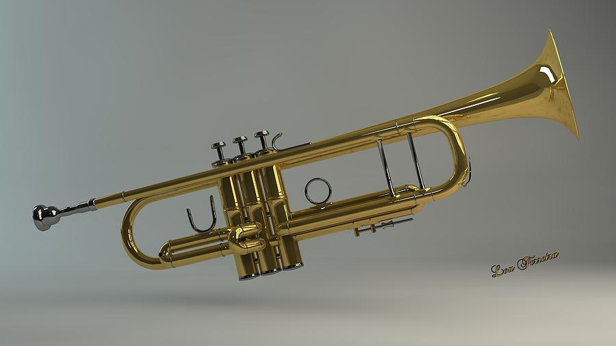 Trumpet Digital Art - Trumpet by Louis Ferreira