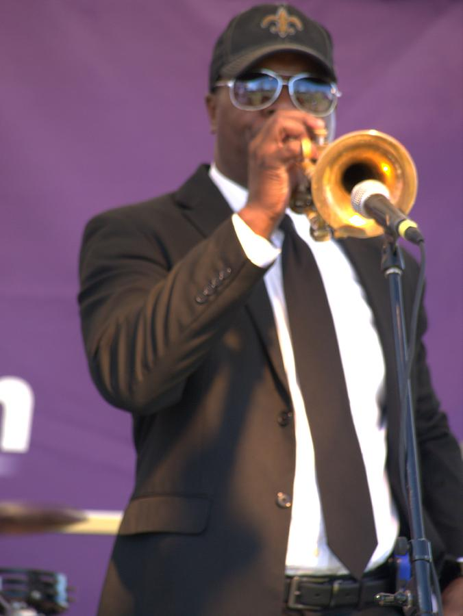 Trumpet Photograph - Trumpet Player by Anthony Walker Sr