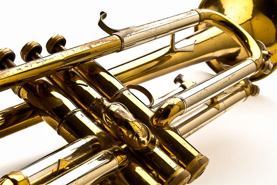 Trumpet Photograph - Trumpet Valves by  Onyonet  Photo Studios