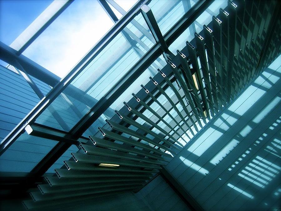 Architecture Photograph - Trusses by Jon Berry OsoPorto
