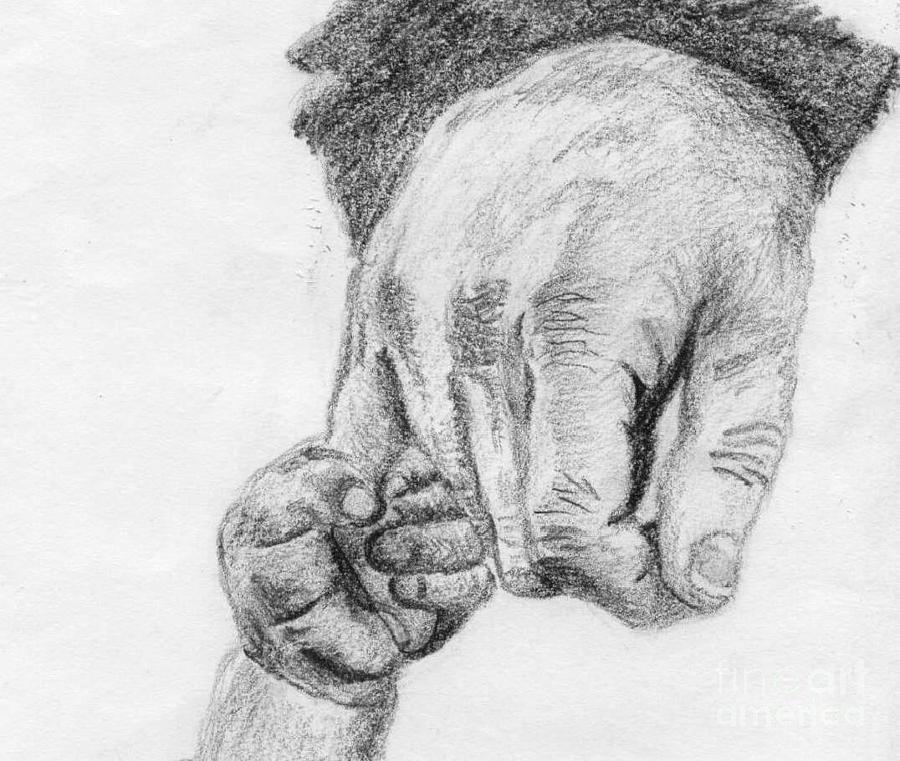 Hands Drawing - Trust by Annemeet Hasidi- van der Leij