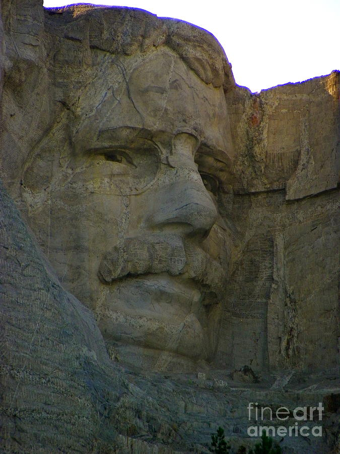 Mount Rushmore Photograph - Trust Buster by KD Johnson