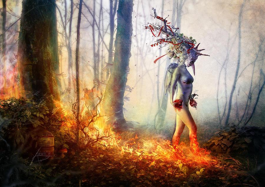 Surreal Digital Art - Trust In Me by Mario Sanchez Nevado