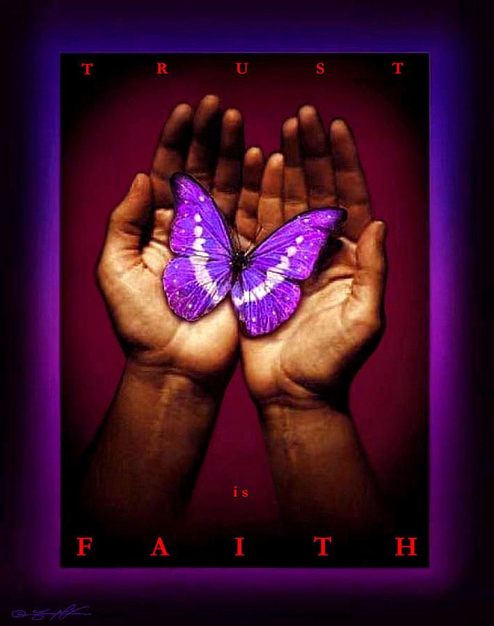 Hands Painting - Trust Is Faith by Tony Nixon