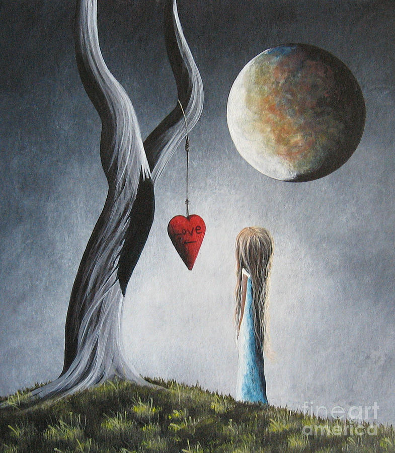 Dreamy Painting - Trust Your Instincts By Shawna Erback by Shawna Erback