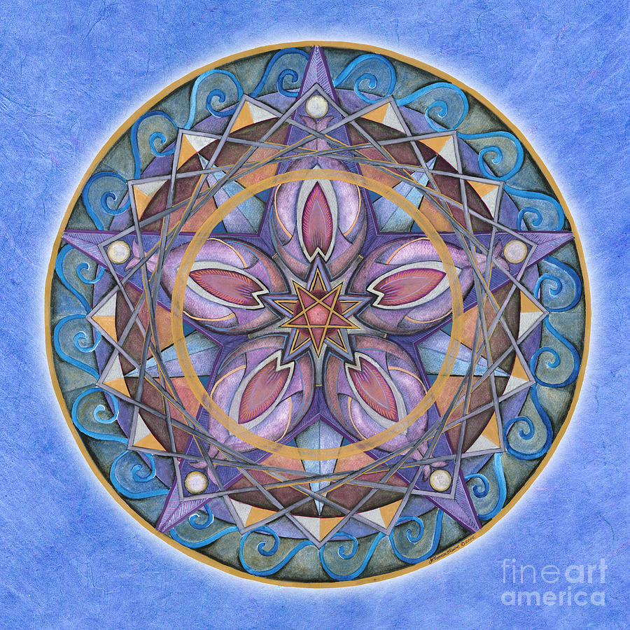 Truth mandala painting by jo thomas blaine for Mural mandala