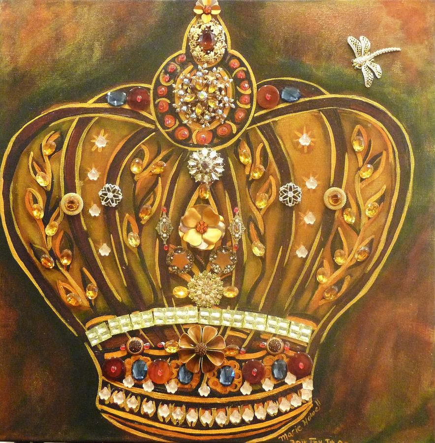 Crown Painting - Try It On by Marie Howell Gallery