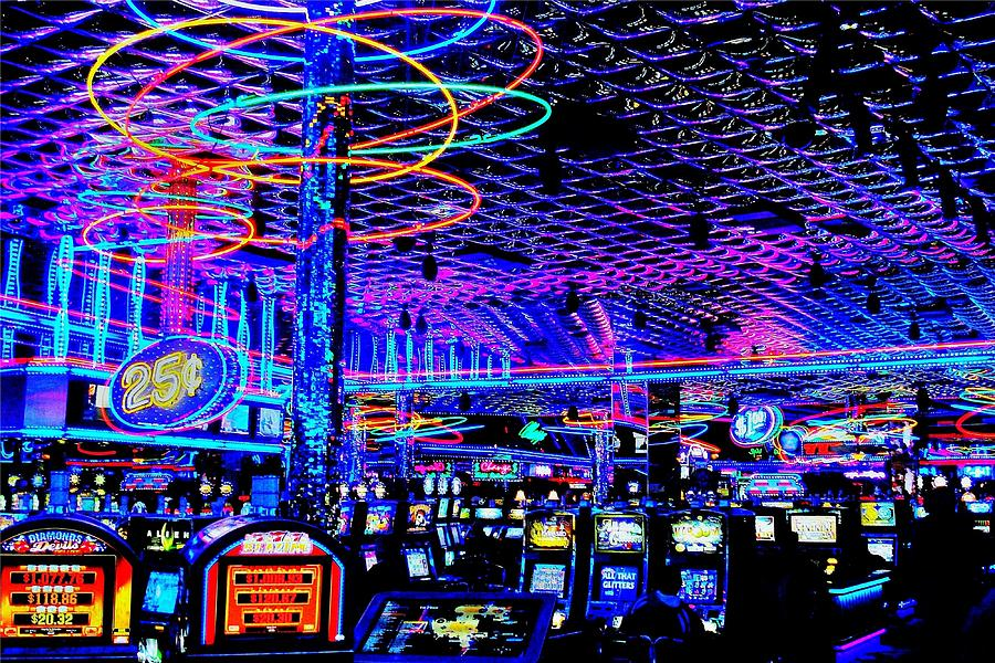 Casino Photograph - Try Your Luck by Benjamin Yeager