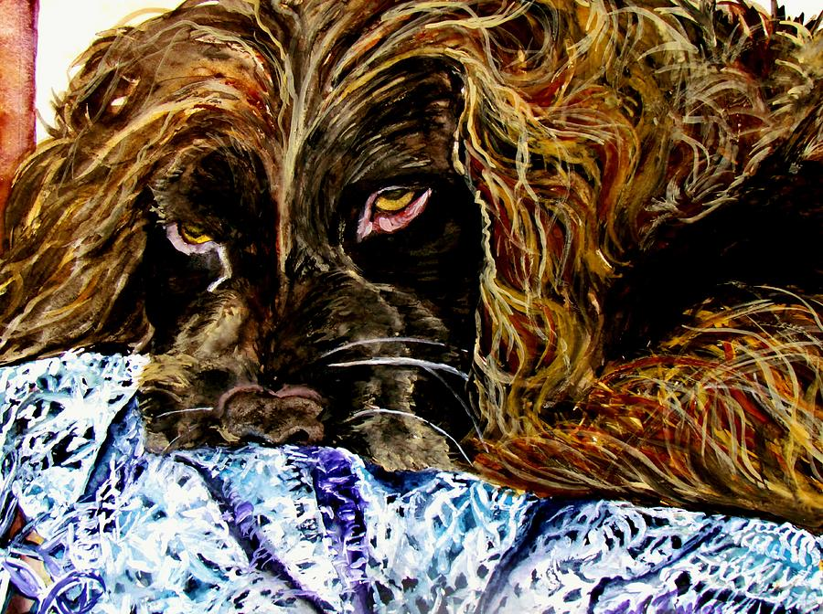 Boykin Painting - Trying To Sleep Here by Lil Taylor