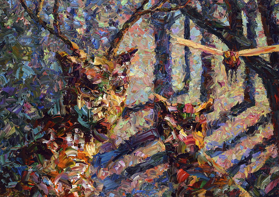 Tryst Painting - Tryst by James W Johnson