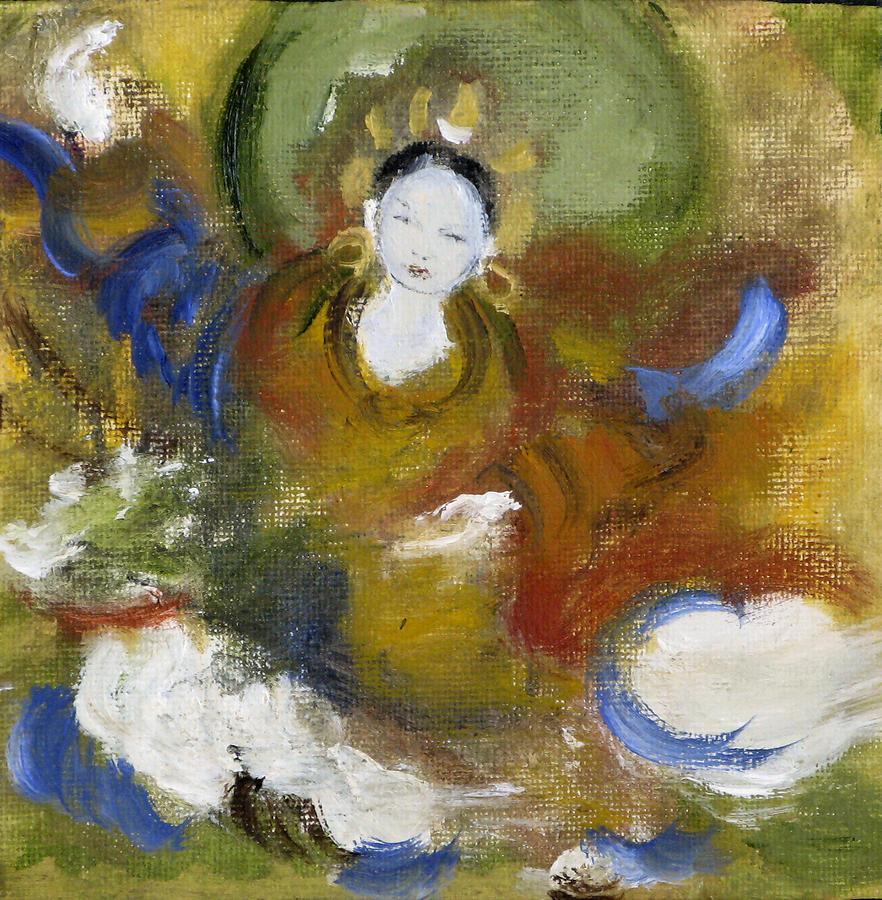 Tibetan Painting - Tseringma by Alma Dankoff