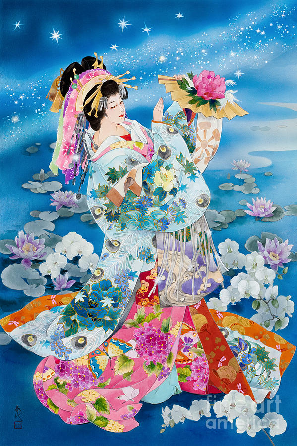 Tsuki Hoshi Variant II Digital Art by Haruyo Morita