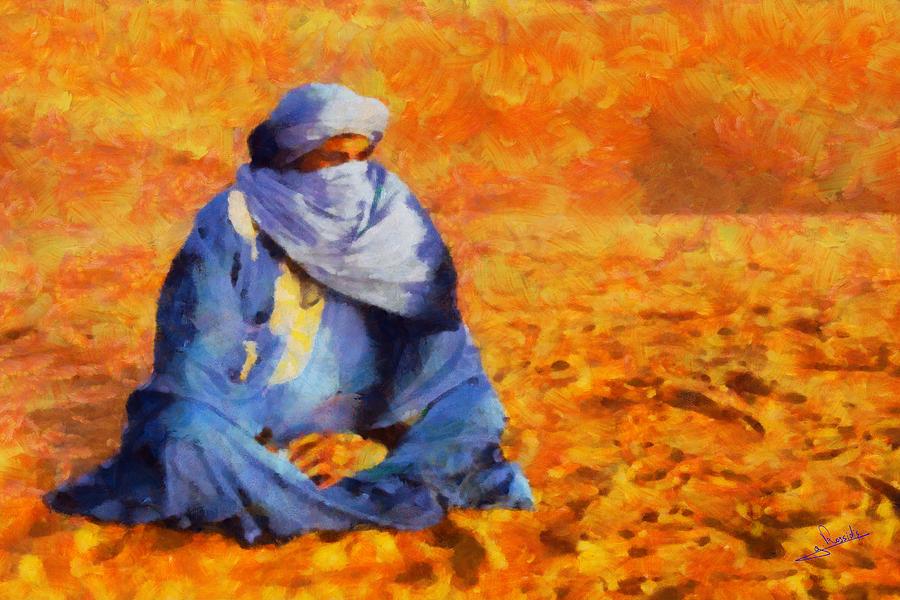 Rossidis Painting - Tuareg 2 L.e. by George Rossidis