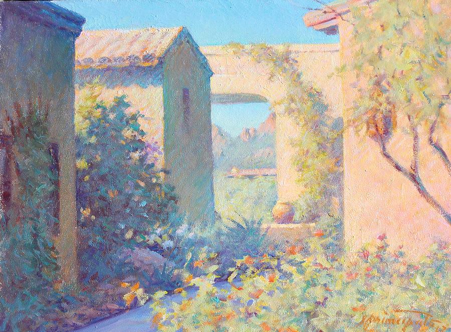 Tubac Arizona Painting - Tubac Village Center by Ernest Principato