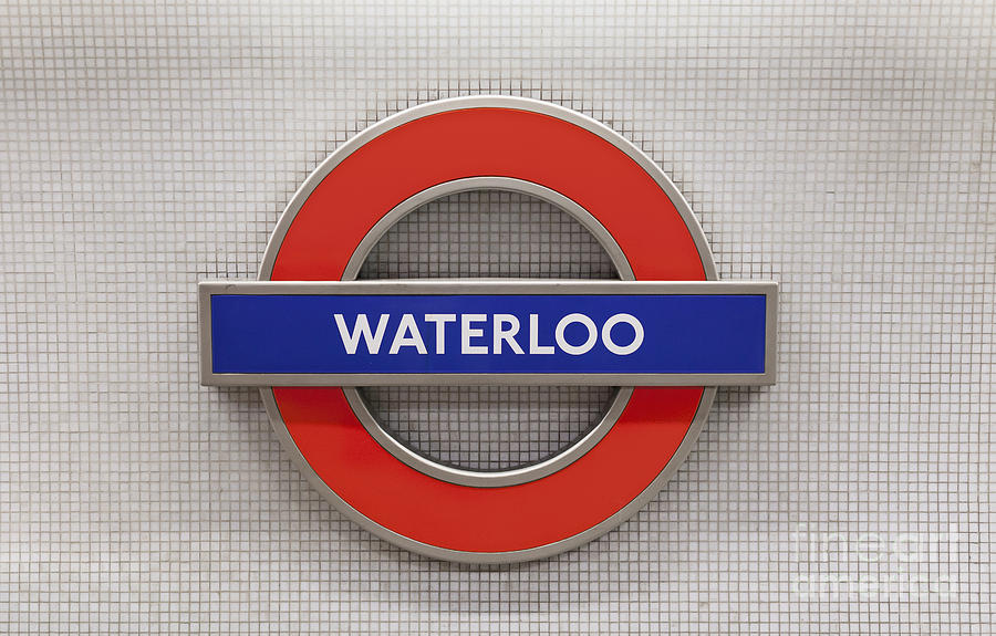 Tube Sign At Waterloo Station In London Photograph By Roberto