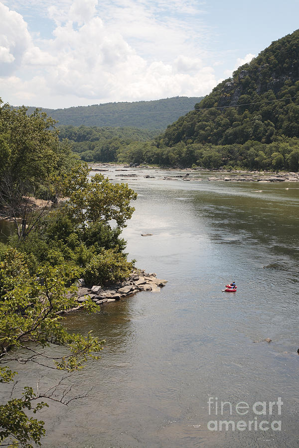 Potomac Photograph - Tubing On The Potomac River At Harpers Ferry by William Kuta