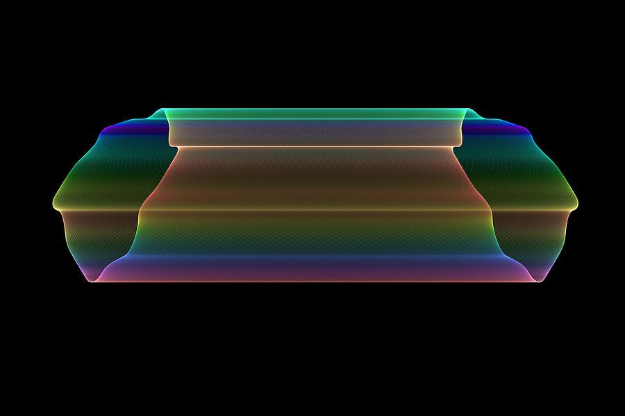 Fractal Digital Art - Tubular Rainbow by Denise Beverly