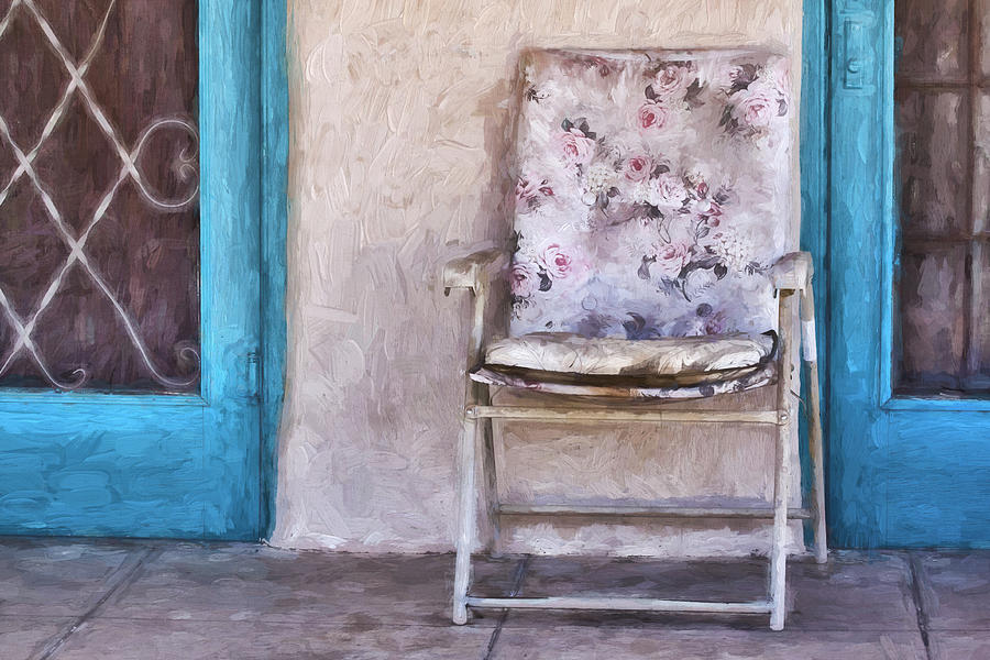 Arizona Photograph - Tucson Front Porch Painterly Effect by Carol Leigh