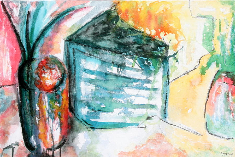 Colorful Painting - Tuesday Afternoon by Lyndsey Hatchwell