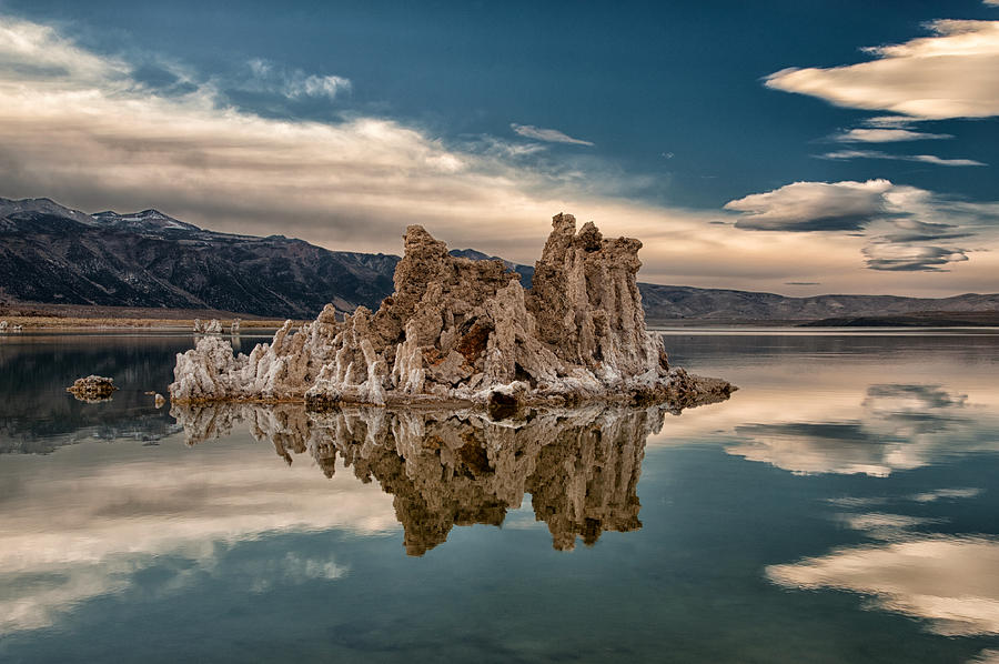 Lake Photograph - Tufa Reflections by Cat Connor