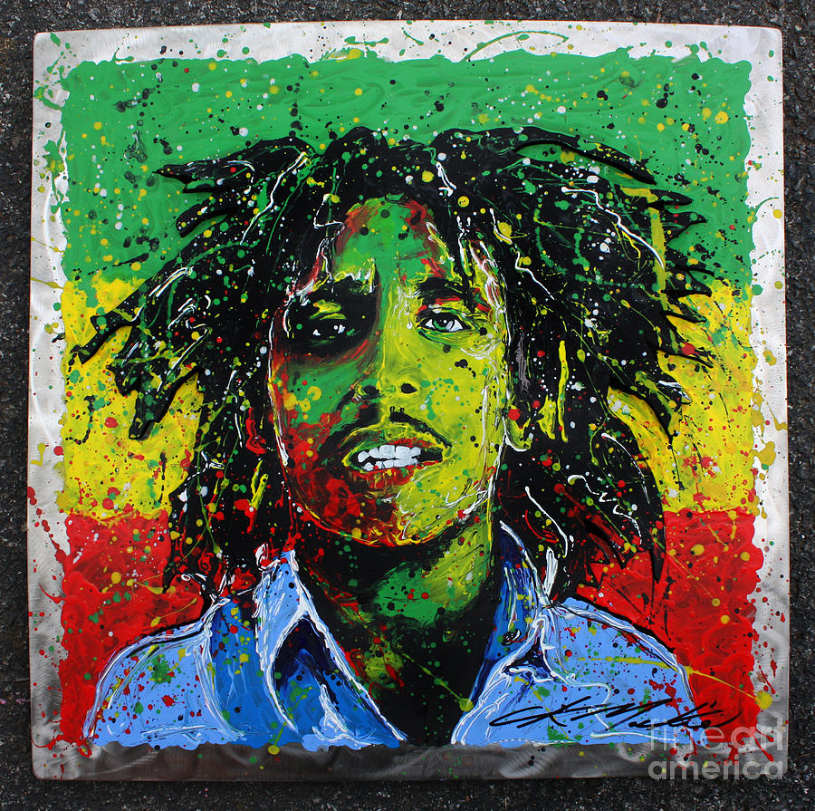 Bob Marley Painting - Tuff Gong by Chris Mackie