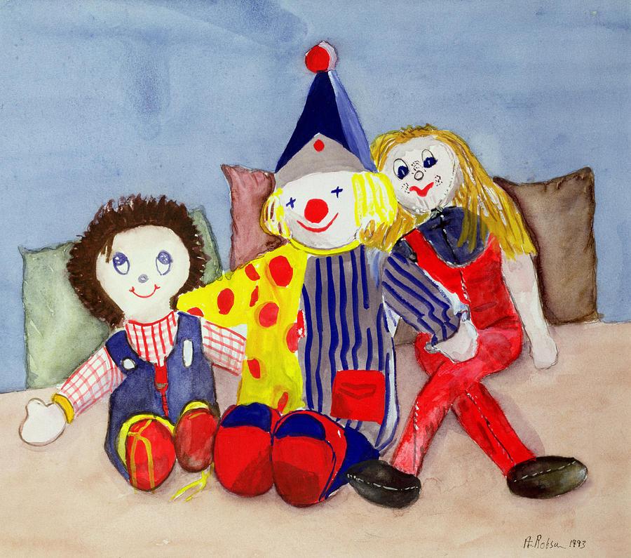 Clown Painting - Tuffys Toys, 1993 by Ann Robson