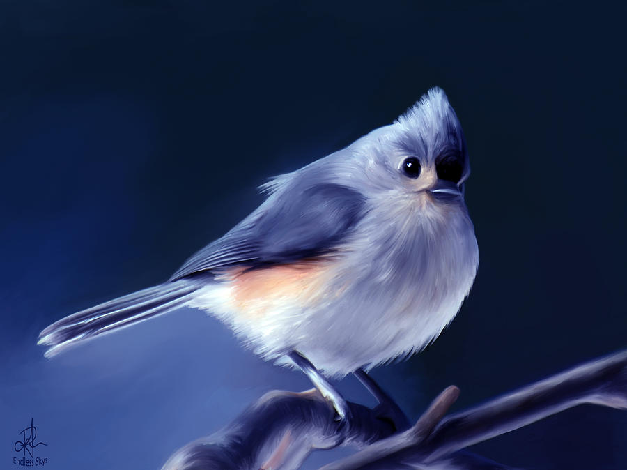 Bird Painting - Tufty The Titmouse by Pennie  McCracken
