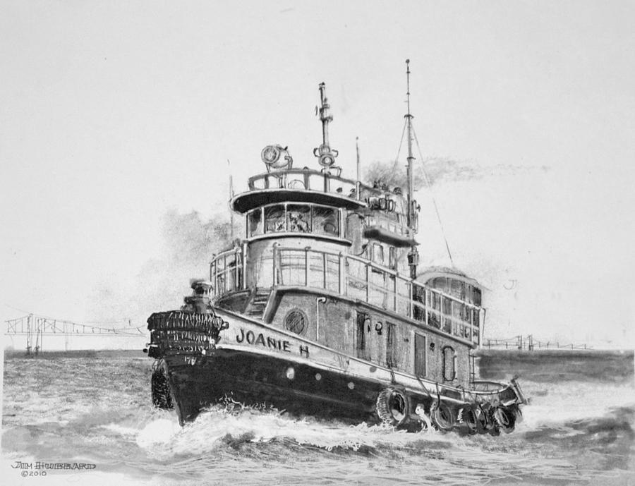 Tug Boat Drawing By Jim Hubbard