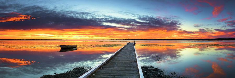 Tuggerah Lake Jetty Photograph by Bruce Hood
