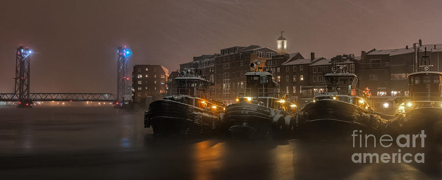 Portsmouth Nh Photograph - Tugs in the Snow by Scott Thorp