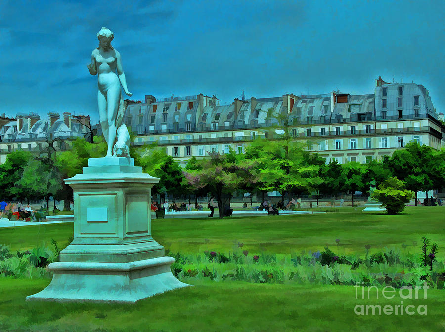 Gardens Photograph - Tuileries Gardens by Allen Beatty